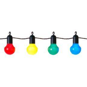 Splinternye Party lyskæde LED 20 kulørte pærer Inkclub 159kr   Sommerhus og CW-59