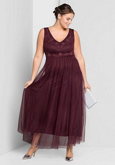 Abendkleid In Aubergine Im Sheego Online Shop Fur Grosse Grossen Gunstig Bestellen Abendkleid Abendkleider Elegant Kleider