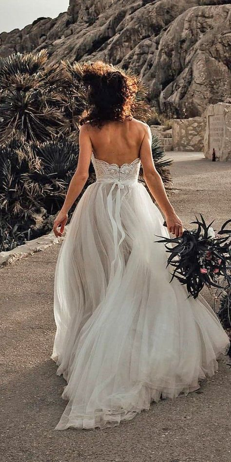 27 Best Wedding Dresses For Celebration ❤  best wedding dresses ball gown low back rustic beach selia photography #weddingforward #wedding #bride