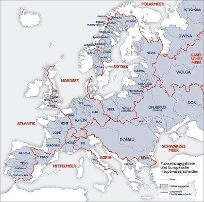 Bassejny Rek Evropy V 2020 G Kartografiya Evropa Reka