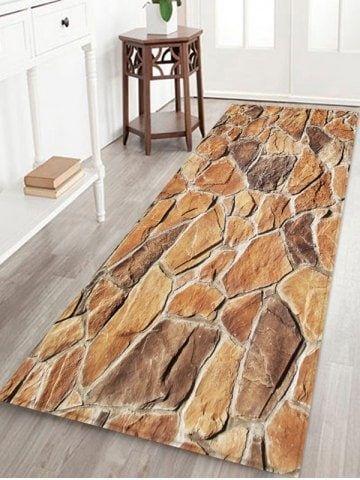 Stone Print Pattern Water Absorption Area Carpet Pattern Stone