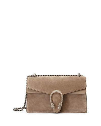 Love This Taupe Suede Small Purse So Cute Gucci Testa Tigre Dionysus Shoulder Bag