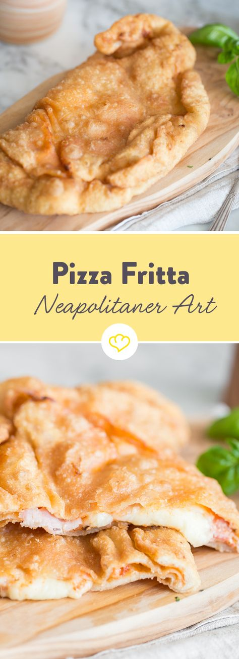 Für die frittierte Pizza brauchst du nur ein bisschen Geduld und viel Amore! Du wirst dafür mit einem einartigen Teig elastisch und zart belohnt!