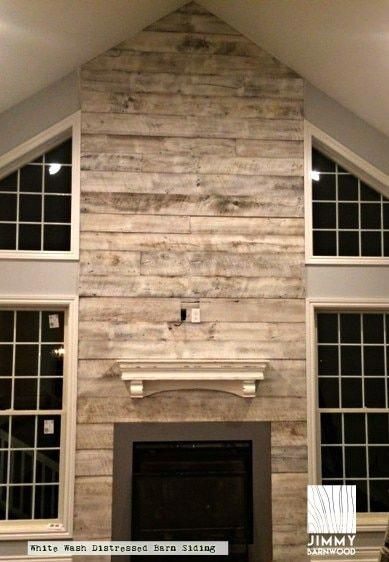 Ready To Install Reclaimed Wood Accent Wall Planks Whitewash Original Face Barnwood Pl Reclaimed Wood Accent Wall Wood Walls Living Room Fireplace Remodel