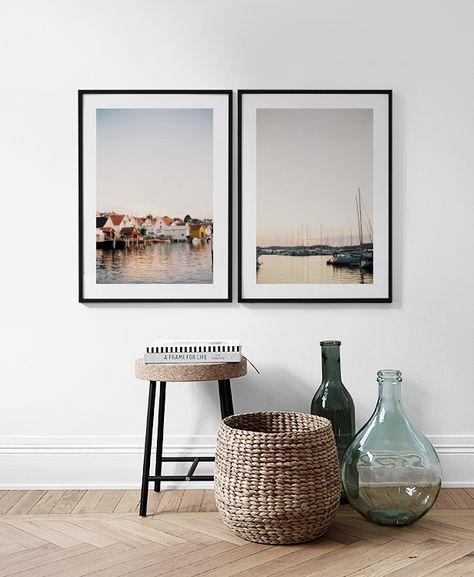 Mooie posters en prints boven het bed of de bank   Mooie posters in paren