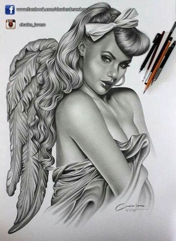 By Charles Laveso #tattoo #tatoo #тату #sexygirls - www.tatoo24.wordp... | Beautiful Angel Tattoos | Small Baby Angel Tattoos | Guardian Angel Tattoos Designs | Angel Tattoos In Memory Of. #tattooangel #tatto