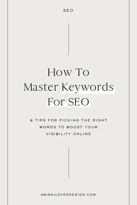 How To Master Keywords For SEO