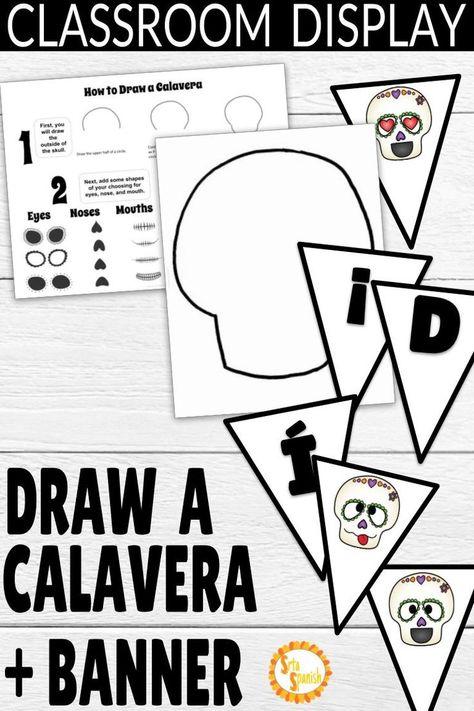 Día de los Muertos Draw a Calavera Activity and Classroom