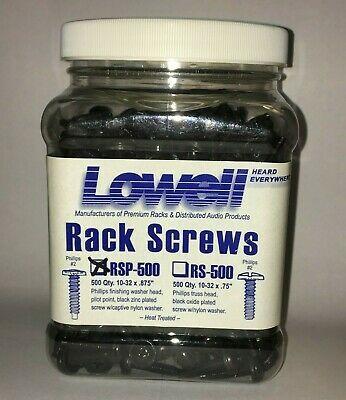 Sponsored Lowell Rack Screws Rsp 500 500ct 10 32 X 875 Rack Screws New In 2020 10 Things Screws Rack