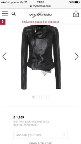 Rick Owens Low Neck Biker Leather Jacket Leather Jacket Clothes For Women Biker Leather