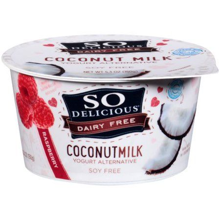 So Delicious Dairy Free Raspberry Coconutmilk Yogurt 5 3 Oz Walmart Com Coconut Milk Yogurt Dairy Free Homemade Coconut Yogurt