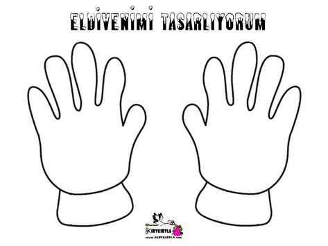 Eldiven Tasarimi Glove Design Tasarim Boyama Sayfalari