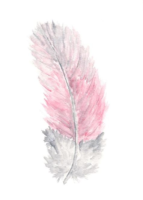 Nature feather painting watercolor feathers watercolor art | Etsy