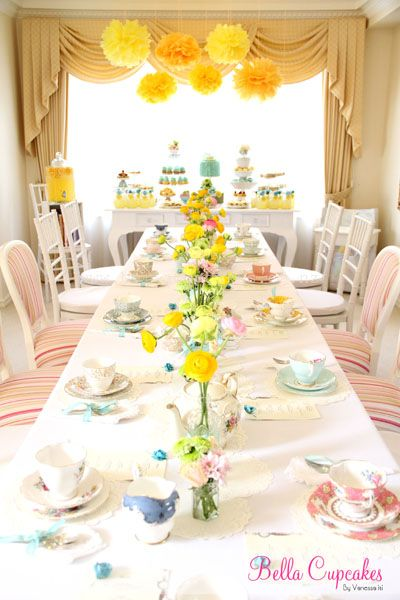 Love the pops of yellow & pastels...this would be an adorable bridal shower!