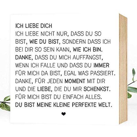 Wunderpixel Holzbild Ich Liebe Dich Liebeserklarung 15x15x2cm