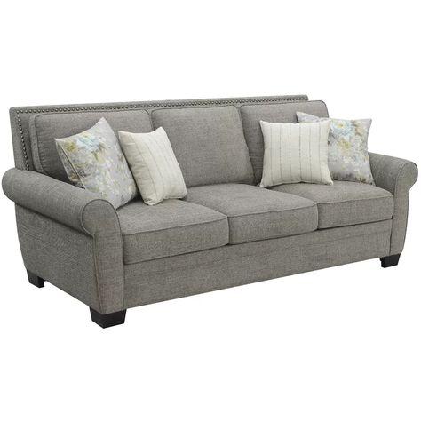 Feminine French Country Bragg 90 Rolled Arms Sofa Wayfair Sofa Grey Upholstery Cushions On Sofa
