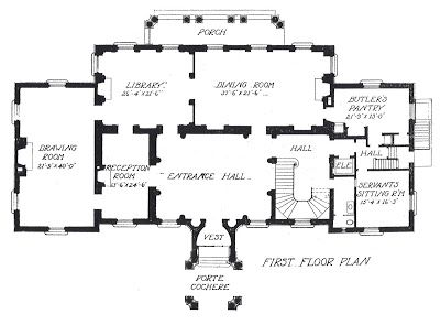 Architect Design House Plans meyer white house -first floor plan via architect design