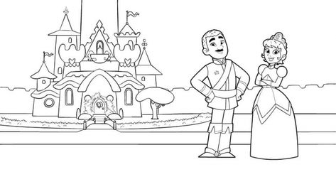 King Dad And Queen Mom Coloring Page From Nella The Princess