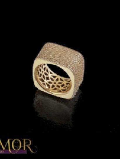دبل زفاف ذهب عيار 18 3875 Rings For Men Gold Jewelry