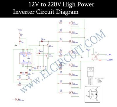 12v To 220v Inverter Dc To Ac Voltage Inverter Tl494 Irfz44n Circuit Diagram Electronics Circuit Electronic Schematics