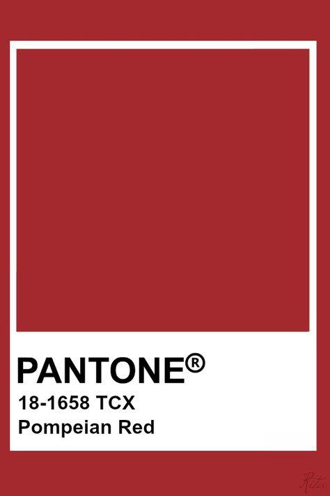Pantone Pompeian Red