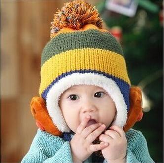 4f65a42f227 Winter Baby Toddler Boys Girls Winter Ear Flap Warm Hat Bebe Hat With Scarf  Beanie Cap Monkey Kids Winter Cap Children Headwear