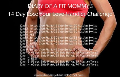 Diary of a Fit Mommy's 14 Day Lose Your Love Handles Challenge