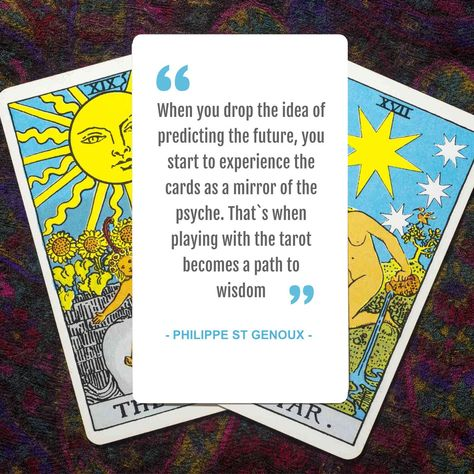 When you drop the idea of predicting the future, you start to experience the cards as a mirror of the psyche. That`s when playing with the tarot becomes a path to wisdom. #VishwasHealingCentre #thought #messages #tarot #tarotreading #future #futuregoals #life #tarotcards #tarotcardreading #tarotonline #tarotcardreader #path #wisdom #idea #mirror
