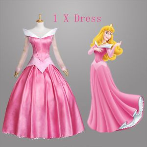 Fashion Sleeping Beauty Princess Aurora Gorgeous Fancy Dress //US Cosplay Costume