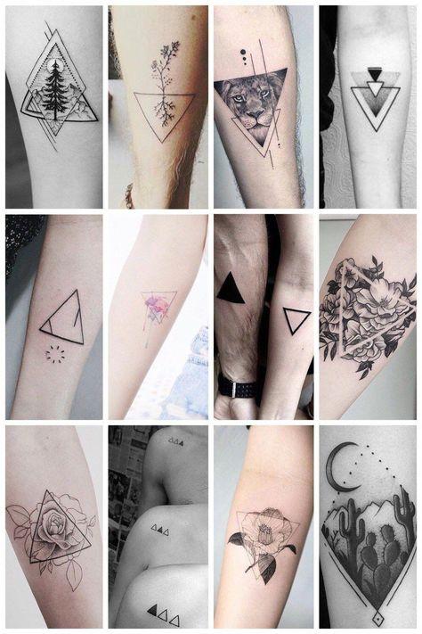 abstract geometric tattoo #Geometrictattoos
