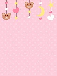 simple pink mother and child poster background