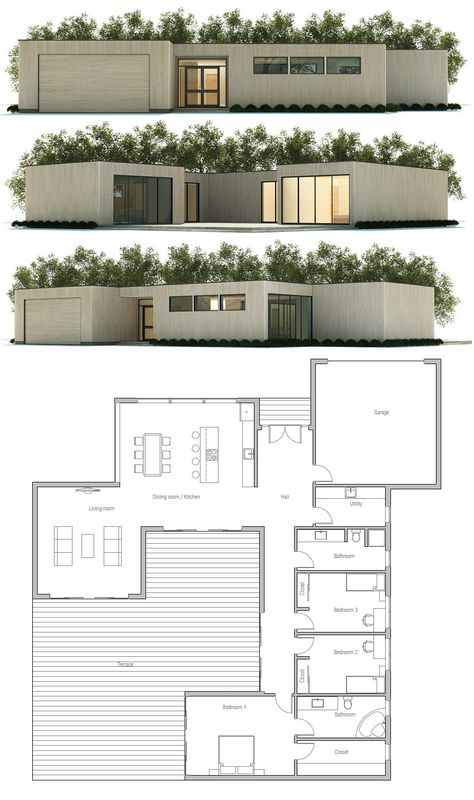 30 best Plan maison images on Pinterest House blueprints, Modern - Exemple Devis Construction Maison