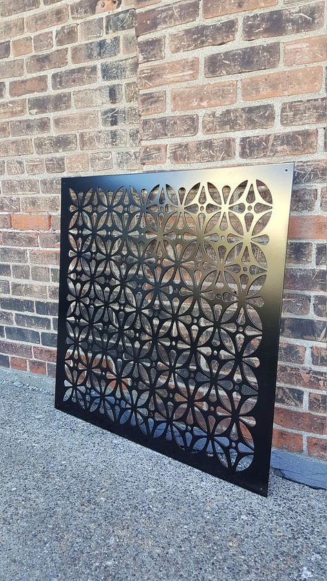 Aluminum decorative panel for privacy screening, fencing panel or simply for hanging on a wall for some added decor. The Watered Edge specializes in custom metal designs for your home and/or garden decoration. Each one of our screens can also be customized to suit your individual