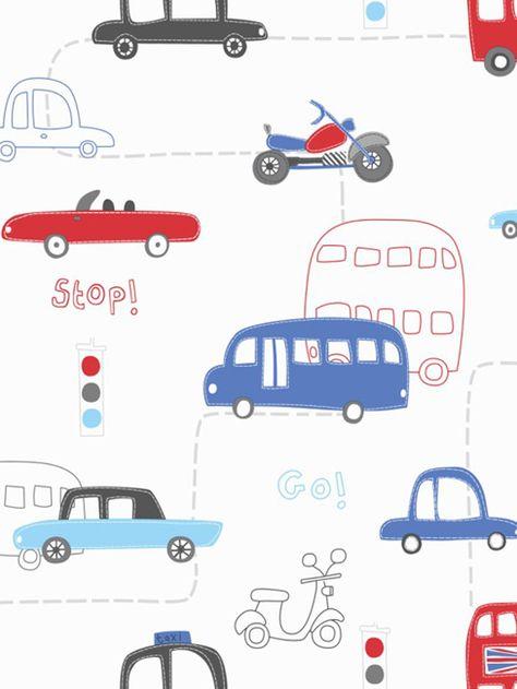 ArtHouse MOTEUR MANIA papier peint 533501-enfants voitures rouge bleu