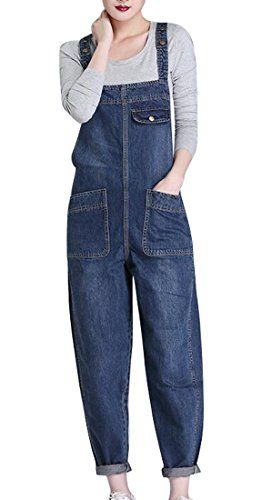 1c1da7109c32 MMCP-Women Juniors Reversible Ripped Denim Jeans Overalls Jumpsuit Romper