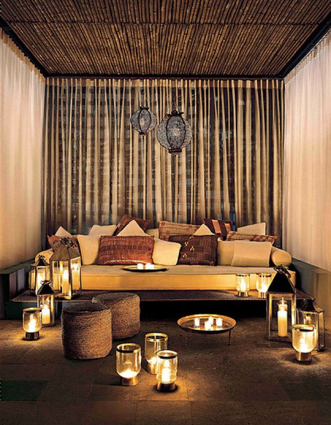 Everything. Just everything. Chilled out, whimsical lighting, pillows... I could definitely appreciate a space like this!