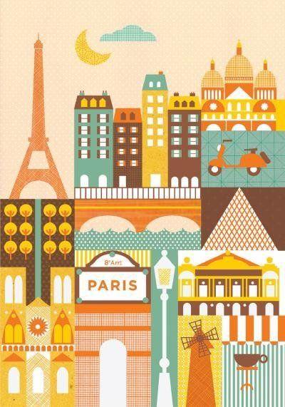 Idee Cadeau A Paris.Pin By Lucaisesco Bedo On Idee Cadeau Paris Illustration