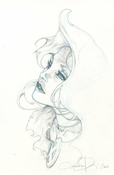 Emma Frost by Simone Bianchi