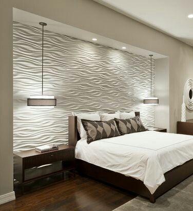 indirekte deckenbeleuchtung schlafzimmer paneele über bett - indirekte beleuchtung schlafzimmer