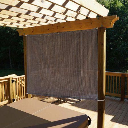 Alion Home Mocha Brown Sun Shade Privacy Panel With Grommets On 2 Sides For Patio Awning Window Pergola Or Gazebo 6 X 4 Walmart Com Rustic Pergola Pergola Shade Pergola Shade Cover
