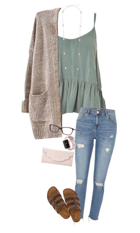 Apr 2020 - A fashion look from November 2017 by shelbycooper featuring Topshop, River Island, Birkenstock, Kate Spade, Kendra Scott and Versace Look Fashion, Teen Fashion, Autumn Fashion, Fashion Outfits, Fashion Clothes, Paris Fashion, Modern Gypsy Fashion, Back To School Fashion, Neon Outfits