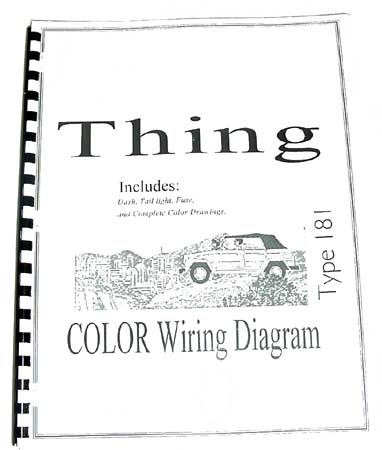 99dc6779ddb2cb542db5e8689b131693 vw beetle volkswagen volkswagen thing type 181 color wiring diagram booklet, $10 via 1973 vw thing wiring harness at soozxer.org