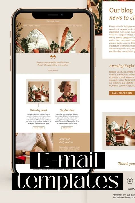 Email newsletter templates, canva editable template, newsletter, Mailchimp, e-mail marketing