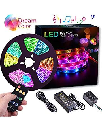 Dreamcolor Led Strip Lights Wrrlight 32 8ft 10m 300 Leds Smd5050 Music Lights Multicolor Waterproof How To Make Light Led Strip Lighting Motion Sensor Lights