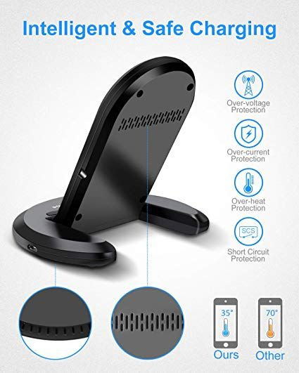 Elegiant Chargeur Sans Fil Chargeur A Induction Pliable Station De Rechargement Rapide Pour Iphone 8 8 Plus X Xr Xs Xs Max Samsung Ga Iphone Galaxy Samsung