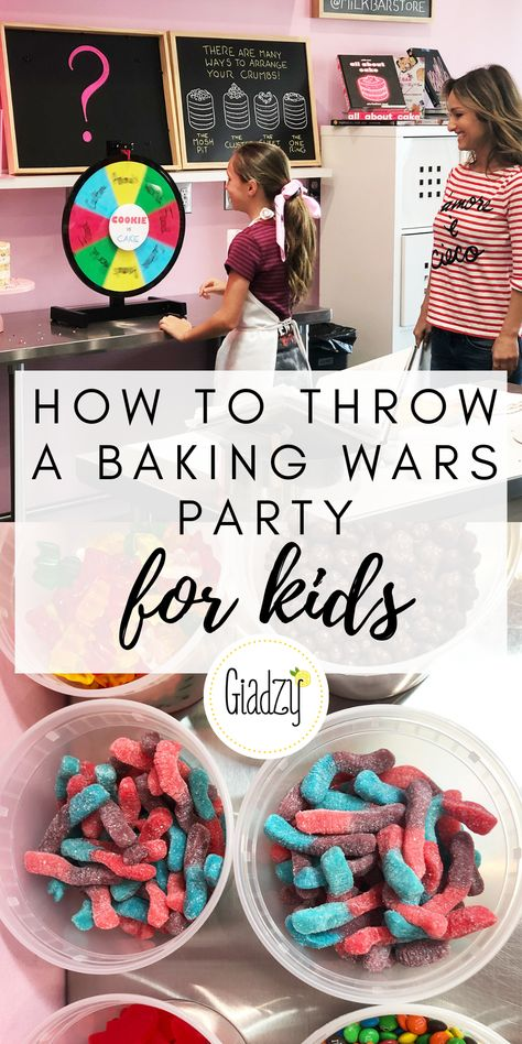 birthday party decorations 235242780523680118 - This fun birthday party idea is perfect for kids who love to bake, cook, or watch a lot of Food Network! Get the tutorial through the link! Source by gdelaurentiis Baking Birthday Parties, Baking Party, Birthday Party For Teens, Sleepover Party, Birthday Party Themes, Teen Parties, Pamper Party, Paris Birthday, Spa Birthday