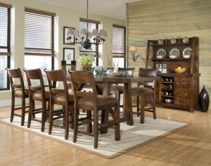 Woodland Ridge 9 Piece Trestle Counter Height Table Set  Http Pleasing 9 Pc Dining Room Sets Design Inspiration