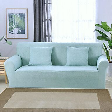 Light Blue Durable Soft High Stretch Slipcovers Sofa Cover Washable Spandex Couch Covers Couch Covers Sofa Covers Sectional Sofa