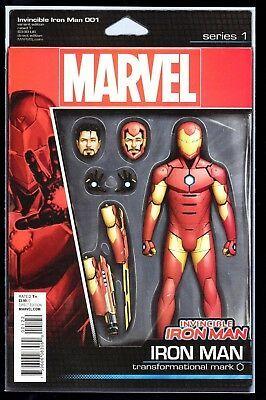 Invincible Iron Man 1 2015 Action Figure Variant John Tyler Christopher Nm Iron Man Comic Iron Men 1 Iron Man