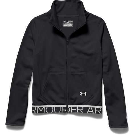 3f52ab02b7 Girls' UA Eliminate Track Jacket | style | Under armour girls, Under ...